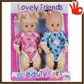 2014 mais novo plástico corpo da boneca de vinil silicone boneca reborn kit cabeleireiro dolls 12 polegada