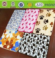 flower pattern /dog paw prints design baby coral fleece blanket /Carpet/rug/manta