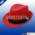 Red moda inverno mulher lã chapéu de feltro