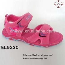Red stiletto girls flat beach sandals 2014
