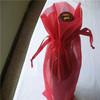 wine chiller bag/organza bag for wine/1 bottle wine tote bag