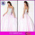 brilho de cristal rosa menina de aniversário do partido vestido para jovens senhoras
