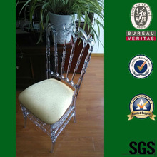 clear color plastic resin PP royal VIP chair with cushion