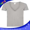 plain 100% cotton deep v neck t shirts for men