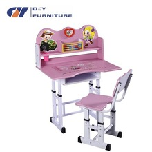 ergonomic adjustable kids furniture study table and chairs for children