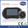 wifi peephole cam,color hd video door bell phone,two way wireless intercom