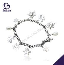 Personality snowflake drop silver jewelry set faith bracelet
