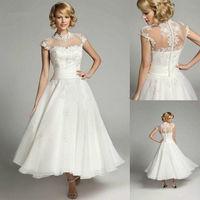 lvory Tea Length Wedding Dress Patterns