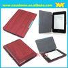 Wood PU Folio Leather case for Amazon kindle paperwhite