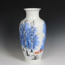 Luxury Chinese Artist Hand Painted Ceramic Porcelain Vases With Certification