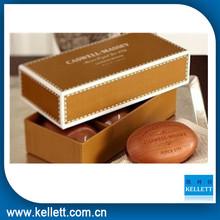 Brown handmade paper soap box