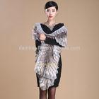 2014 fashion raccoon /wool fox fur pashmina shawl