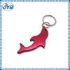 Shark shape cheap aluminum bottle opener keyring