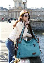 2014 stylish young women popular handbags canvas tote bag
