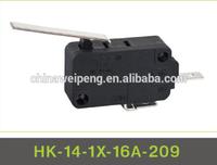 Micro push button switch 10A 16A 21A TUV UL VDE CE CB KC