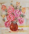 Oil painted pictures of flowers