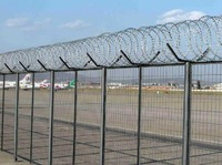 china easy installation airport fence netting razor barbed fence