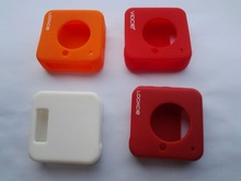 silicone camera cases with white, blue, pink, red, brown