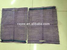 HDPE Raschel mesh bag with handle 35x40cm / la bolsa de plastico de malla de punto