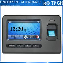 KO-Biopad600 Fingerprint scanner time clock calculator attendance management system