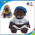 Nuevo producto de 2014, muñeca bebé de vinilo negro deportivo de 8,5 pulgadas