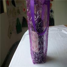 1 bottles wine carrier bag/reusable divided wine tote bag/promotional jute wine bag