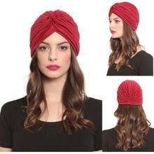 Wholesale 2014 Turban Hat Cap Hijab Hairband Bandana Wrap Hair Loss Chemo Fancy Indian Plain,More Color Can Choose