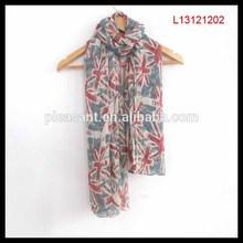Laides fashion latest new design polyeser silk feel UK scarf