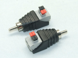 RCA PLUG RCA to 2pin spring connector CAT5 CAT6 Cable to AV Phono Male RCA Connector Jack Plug for CCTV