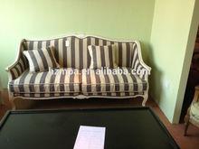 Cheap Strip Fabric Small selectional Sofa Set
