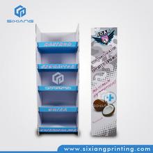 30% Discount Grocery Store Display Racks, Corrugated Floor Display Shelves, Floor Standing POP Up Display