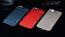 Metal Case for iphone 5 5s 5g 4 4s 4g Aluminum Brush Hard Back Cover Precise Hole