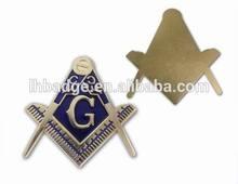 custom chrome car emblems; newest masonic car emblem