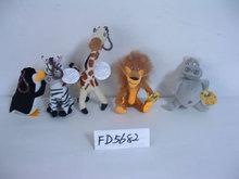 promotional beautiful customized plush penguin,tiger,giraffe,lion,hippo set wild animal toy