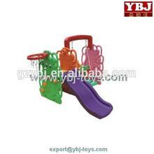 plastic swing and slide set with basketball hoop