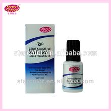 2014 Hot Sell Best Strong Zero Sensitive Natural Long Eyelash Glue