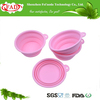 china supplier hot sale novelty promotion durable food grade silicone foldable pet bowl