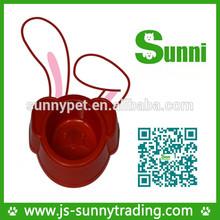 Popular customized plastic sensor collapsible round slow feeder pet smart dog bowl