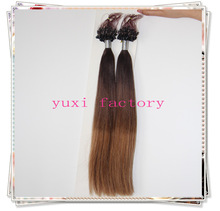cheap double drawn ombre micro loop ring brazilian hair extension