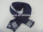 snowflake pattern knit scarf for ladies