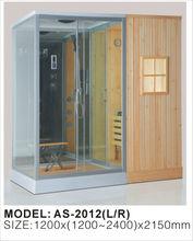 High Quality Wood Steam Sauna Room & 2 Person Dry Sauna