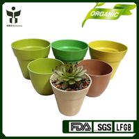 BAMBOO FIBER Cheap flower pots,plant pots,House decoration plant