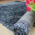 Suave & mezcla de seda alfombra peluda brillante, alfombra peluda microbio de hilo de libélula, alfombras peludas hilo mezclado producto aprobado final en china