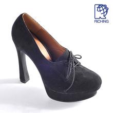 WPU00025, new design lace up platform pumps ladies high heel