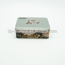 General design economic salable rectangular business card tin box