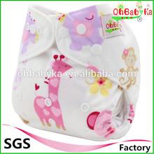 Ohbabyka waterproof pocket diapers eco-friendly bamboo cloth diapers charcoal
