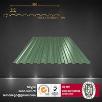 China hot corrugated roofing sheet/zinc aluminum roofing sheet/metal roof price