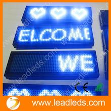 long lifespan USB programmable support world language LED name badge