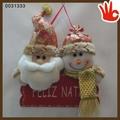 2014 de alta calidad tela de navidad muñecas de navidad santa muñeco de nieve& 2013 muñeca de regalo de navidad de la muñeca