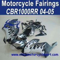 100% Fitment For Honda CBR1000RR 04 05 White Flame Fairing Motorcycle FFKHD019